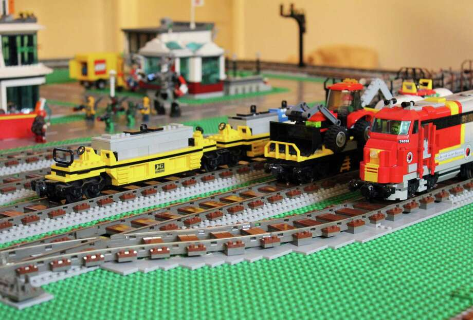 Part of the new Lego display at the Wilton Historical Society's annual Great Trains Holiday Exhibit, from Nov. 24 through Jan. 15, 2018. Photo: Stephanie Kim / Hearst Connecticut Media