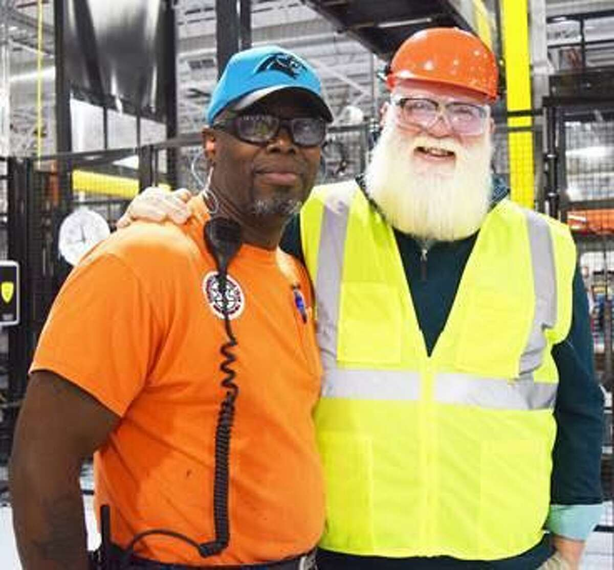 State Representative Bill Buckbee (R-67th) recently took a tour of the Kimberly-Clark mill in New Milford. During his tour, Buckbee was reunited with New Milford High School classmate David Taft, left.