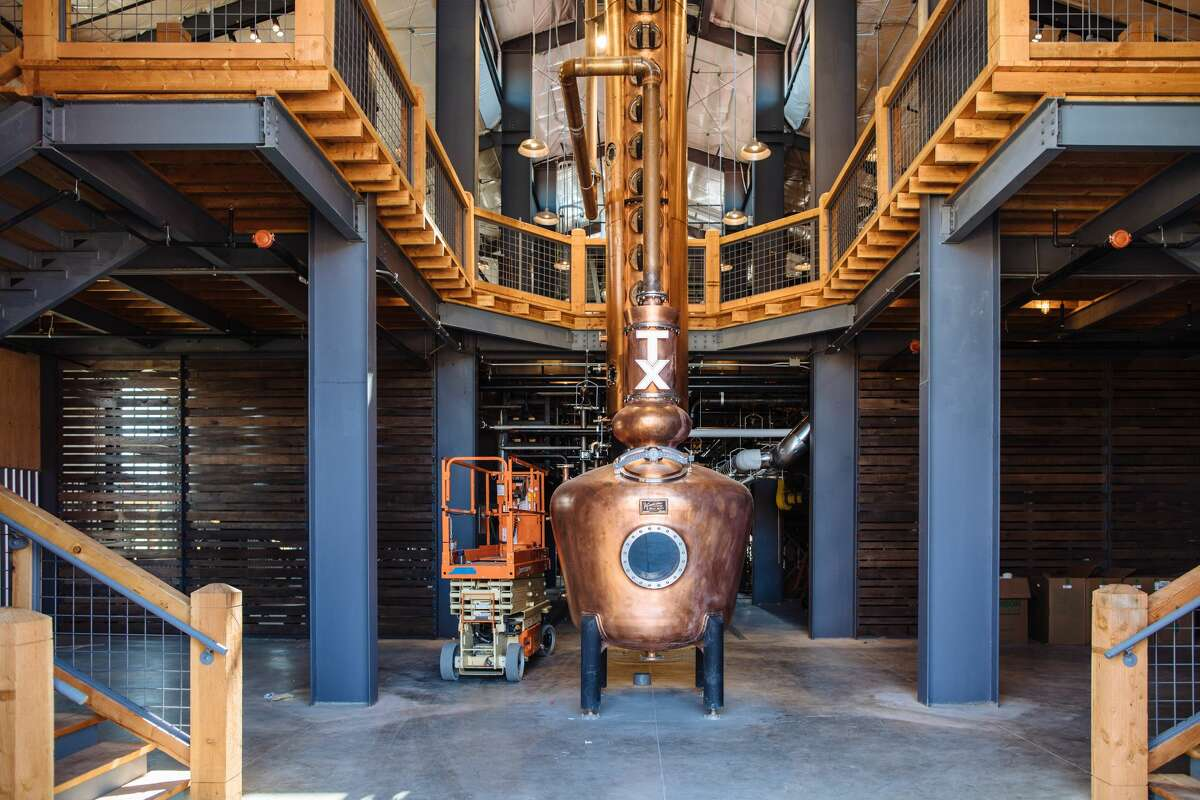 SEE IT: A whiskey wonderland in North Texas  Whiskey Ranch is a 112-acre whiskey wonderland built on a historic 18-hole golf course located approximately 5 miles from Downtown Fort Worth. According to the owners it is the largest whiskey distillery west of the Mississippi. See more photos from the inside and outside of the new boozy Texas destination...
