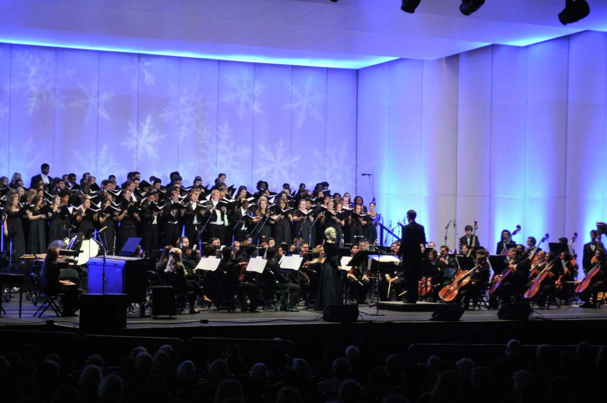 A variety of orchestras and band programs from Conroe ISD will participate in this year's Holly Jolly Jingle at the Cynthia Woods Mitchell Pavilion.