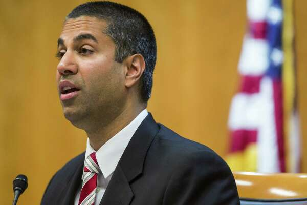 FCC Chairman Ajit Pai during an open meeting of the commission in Washington on Nov. 16, 2017.