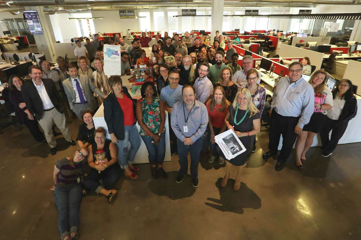 Newspapers across the country sent care packages to the Chronicle newsroom as we covered Hurricane Harvey and its aftermath.Newspapers across the country sent care packages to the Chronicle newsroom as we covered Hurricane Harvey and its aftermath.