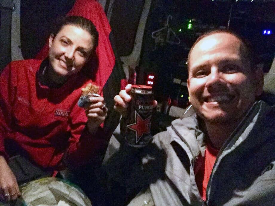 Brandi Smith and Mario Sandoval pose for a selfie in their KHOU van.Brandi Smith and Mario Sandoval pose for a selfie in their KHOU van. Photo: Mario Sandoval