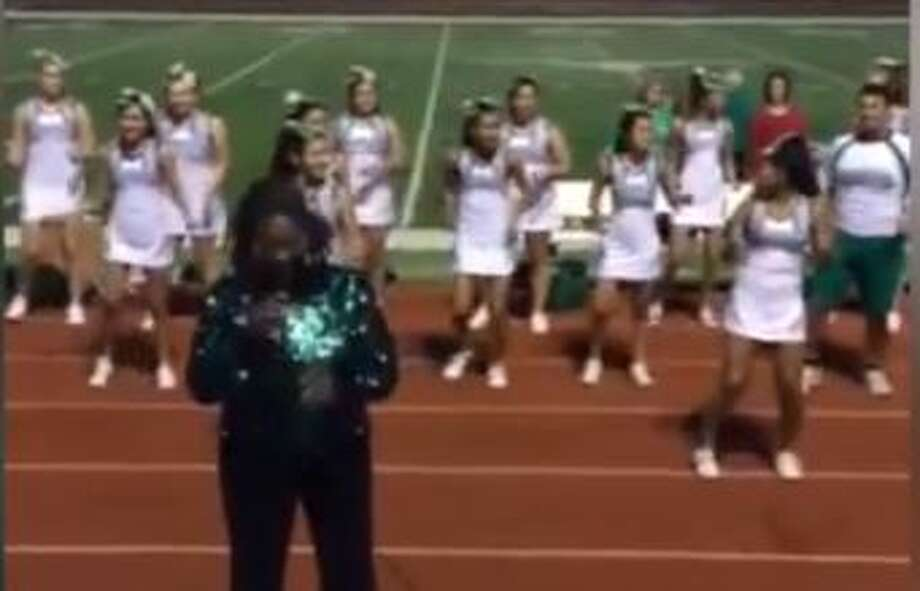 Pearsall Mayor Mary Moore's Tina Turner-inspired performance, which incorporated the Pearsall High School cheerleaders, has become a hit within the community about an hour South of San Antonio.
