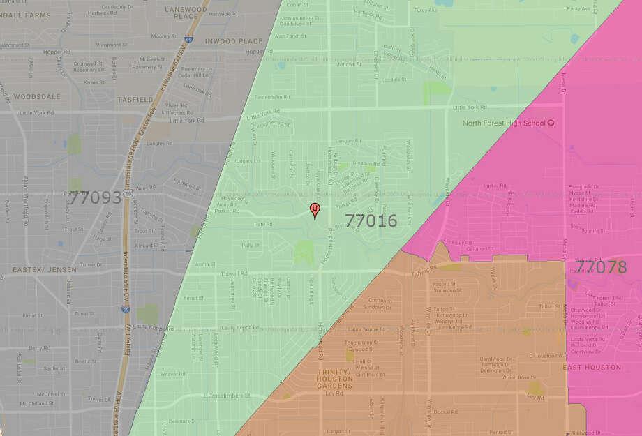 20.Houston - Trinity Gardens/East Little York (77016)County:HarrisNumber of applications:6,960 Photo: Google Maps