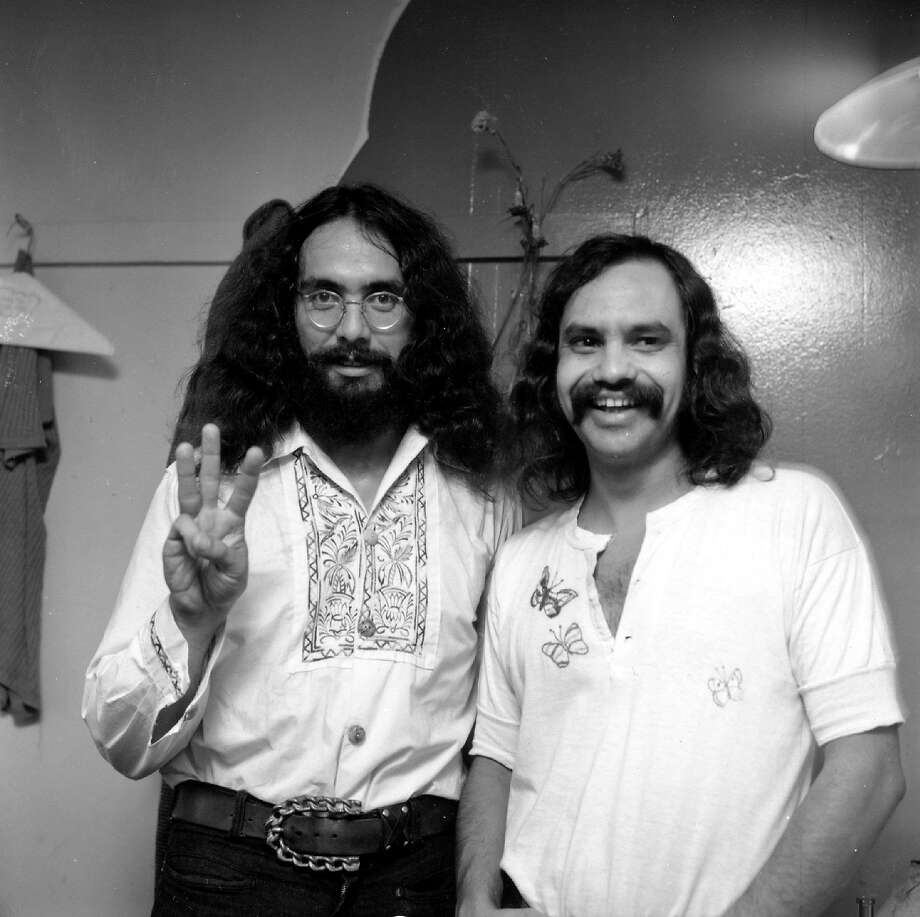 """Richard """"Cheech"""" Marin: mainstream enough to enjoy a long, multifaceted career. Left, with Tommy Chong (left) in their stoner act heyday. Photo: Earl Leaf"""