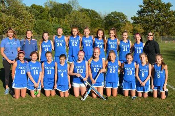 Members of Country School's undefeated 2017 Upper School girls field hockey team included players Annabelle Baird of Darien, Daly Baker of New Canaan, Maeve Baker of New Canaan, Caroline Blouin of Darien, Fiona Burton of Stamford, Elizabeth Dale of Darien, Bennett Ghriskey of Darien, Pippa Gore of Darien, Ellie Hanson of New Canaan, Lucy Jones of Darien, Amelia Lancaster of Darien, Kyle Latimer of Darien, Logan MacLear of New Canaan, Annika Mannix of Wilton, Gigi Morgan of Darien, Katharine O'Shea of New Canaan, Cece Salvatore of New Canaan, Nina Stoops of Darien, Gwen Thompson of Darien and was led by coaches Keri Kern and Cynthia Badan.