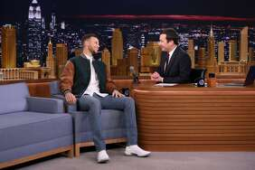 Stephen Curry during an interview with host Jimmy Fallon on November 20, 2017.