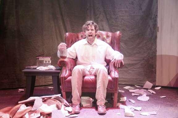 "George Parker in the Catastrophic Theatre's ""Rhinoceros."""