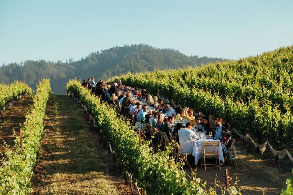 Outstanding in the Field sets up long tables at rural farms in vineyards and right at the ocean side, bringing diners close to the food source.