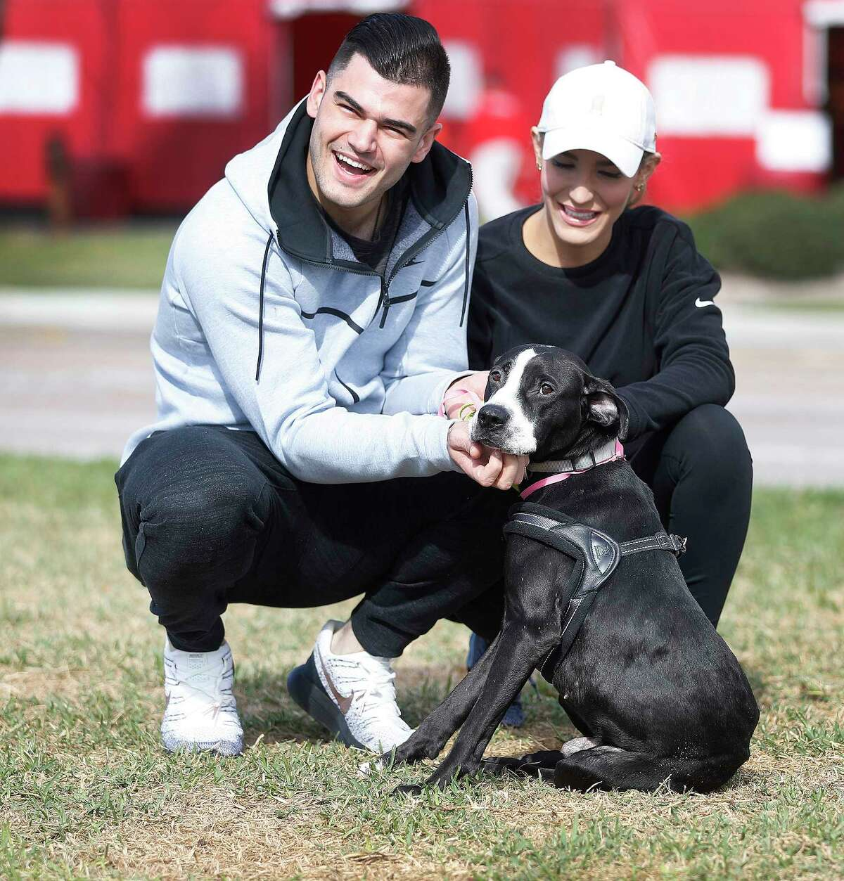 Houston Astros pitcher Lance McCullers Jr. and his wife, Kara, with