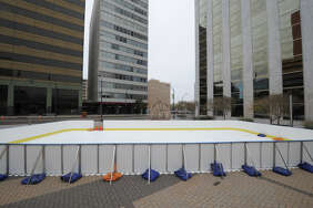A temporary ice skating rink was set up for holiday season 2016 in downtown Midland near the corner of Wall Street and Big Spring in front of the Bank of America building. Midlanders can skate again beginning Dec. 2.