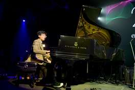 NEW YORK, NY - OCTOBER 16: Jazz pianist Joey Alexander performs onstage at VH1 Save The Music 20th Anniversary Gala at SIR Stage37 on October 16, 2017 in New York City.