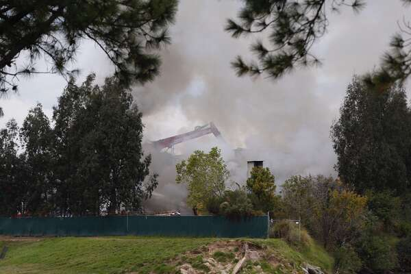 A large fire at a recycling plant near the Port of Houston drew crews to the scene Tuesday.