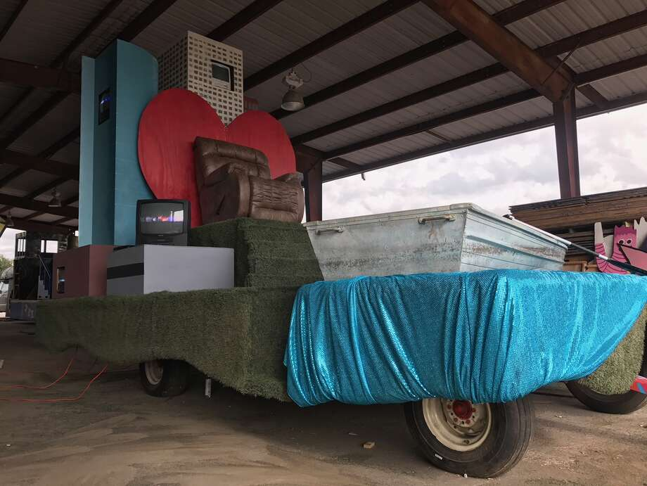 "Jim ""Mattress Mack"" McIngvale will be honored with his own float at the H-E-B Thanksgiving Day Parade which will travel through downtown Houston early Thursday morning. Titled ""Really Will Save You"", instead of McIngvale's familiar ""Really will save you money"" tag line, the float will be a campy take on the furniture magnate's career in Houston. Artist Melissa Eason is currently putting the finishing touches on it in a Houston warehouse. Photo: Melissa Eason"