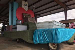 """Jim """"Mattress Mack"""" McIngvale will be honored with his own float at the H-E-B Thanksgiving Day Parade which will travel through downtown Houston early Thursday morning. Titled """"Really Will Save You"""", instead of McIngvale's familiar """"Really will save you money"""" tag line, the float will be a campy take on the furniture magnate's career in Houston. Artist Melissa Eason is currently putting the finishing touches on it in a Houston warehouse."""