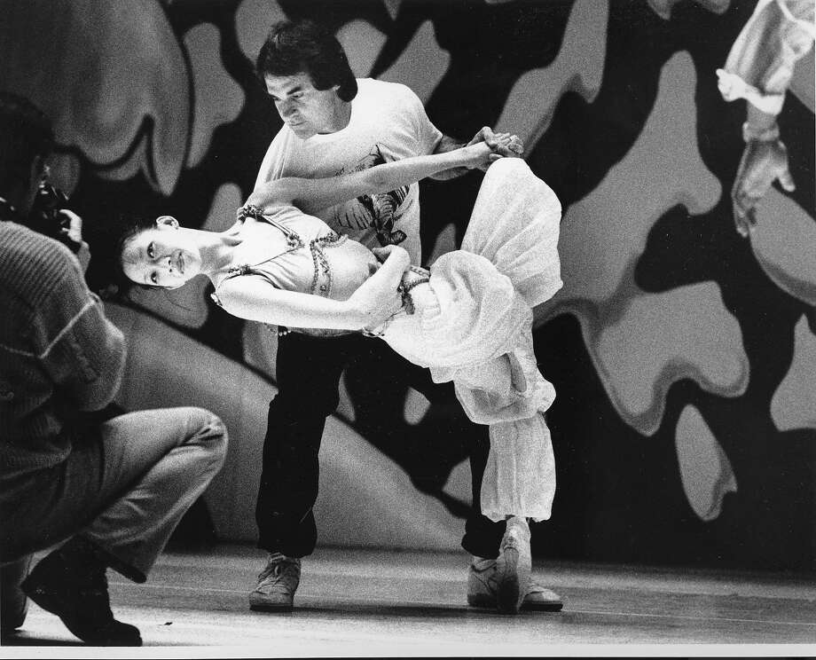 A's manager Tony La Russa dances with Oakland Ballet ballerina Joy Gim in 1990. Photo: Liz Hafalia, The Chronicle