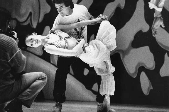 An All-Star night Oakland Athletics baseball players would perform in the Oakland Ballet's production of The Nutcracker, Here, they are rehearsing, December 15, 1990