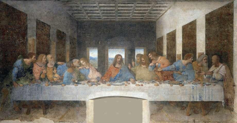 """The Last Supper"" resembles a set design. Photo: UniversalImagesGroup/Getty Images"