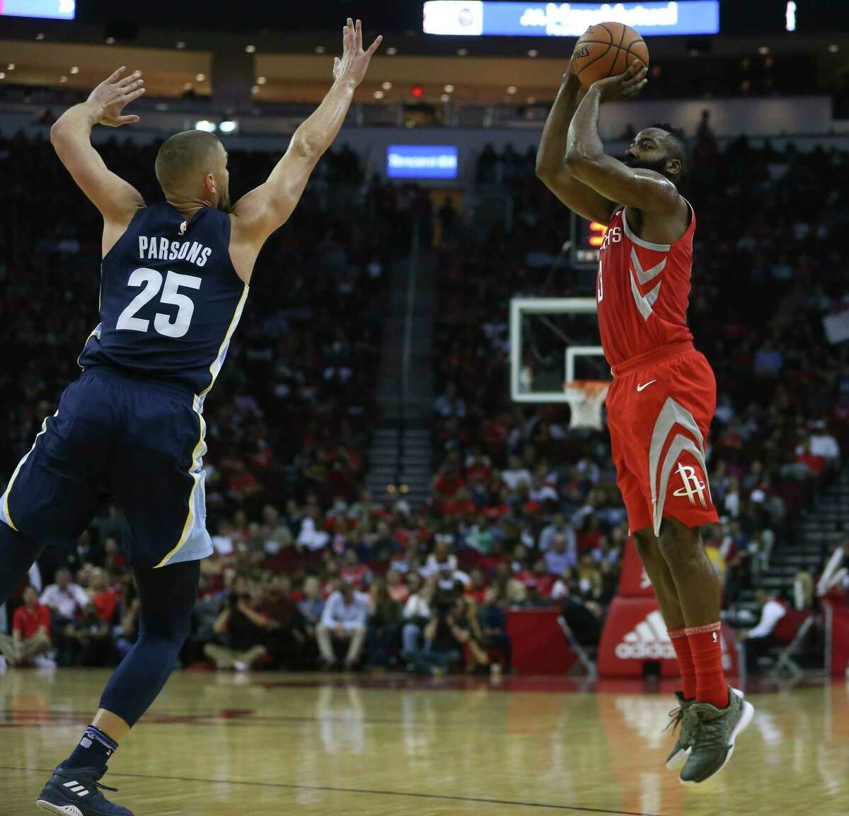 Guard James Harden, right, has flourished as both a scorer and facilitator in the Rockets' high-powered offense, averaging 31.5 points and 9.8 assists per game to lift the team to the top of the Western Conference.
