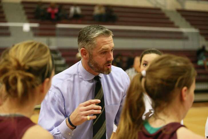Trinity coach Cameron Hill was named 2017's Coach of the Year by the Texas Association of Basketball Coaches after leading the team to a 28-2 record. This year he has tried to elevate the program by playing elite competition.
