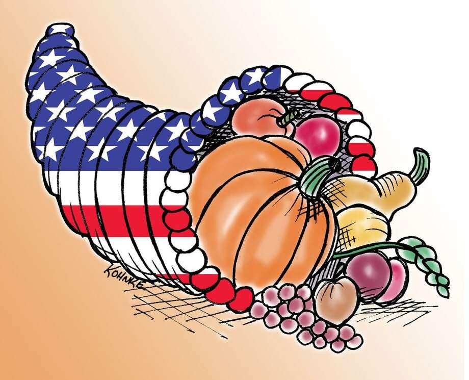 This artwork by Jennifer Kohnke relates to Thanksgiving. Photo: Jennifer Kohnke