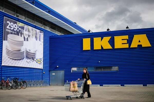 A client walks outside Europe's biggest Ikea store is pictured in Kungens Kurva, south-west of Stockholm on March 30, 2016.  Ikea founder Ingvar Kamprad, who built a global business empire with revolutionary flat-pack furniture and dallied with Nazism in his youth, turned 90 today. / AFP / JONATHAN NACKSTRAND        (Photo credit should read JONATHAN NACKSTRAND/AFP/Getty Images)