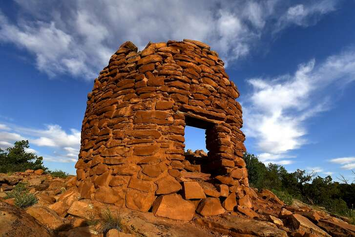 The best preserved of the seven Pueblo ruins that date to the 13th century called Cave Canyon Towers is photographed at Bears Ears National Monument June 11, 2017 in Cedar Mesa, UTAH. MUST CREDIT: Washington Post photo by Katherine Frey
