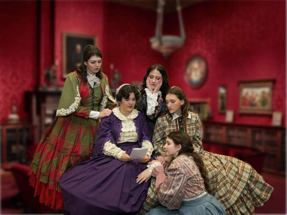 "Pictured are the cast members of The Players Theatre Company's ""Little Women."" Seated is Nelly Light as Marmee and the sisters clockwise are Lizzie Camp as Jo, Kelley Harris as Meg, Emily Van Eaton as Amy and Julia Johnson as Beth. The shows opens Dec. 1 at the Owen Theatre."