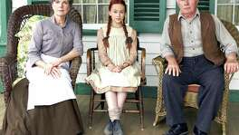 "Sara Botsford (left) plays the no-nonsense Marilla Cuthbert, who looks after orphan Anne Shirley, played by Ella Ballentine (center), along with brother Matthew, played by Martin Sheen, in PBS' ""Anne of Green Gables — The Good Stars"" premiering Thanksgiving night."