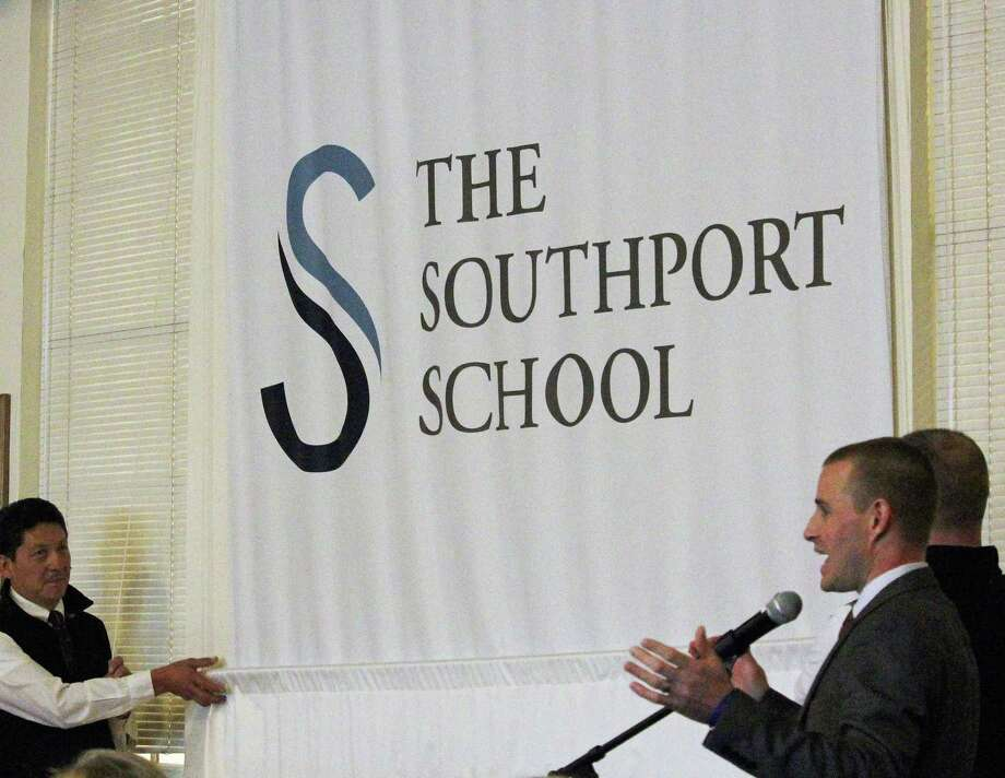 The new name for Eagle Hill Southport School was unveiled at an afternoon assembly Monday. Fairfield, CT. 11/20/17 Photo: Genevieve Reilly / Hearst Connecticut Media / Fairfield Citizen