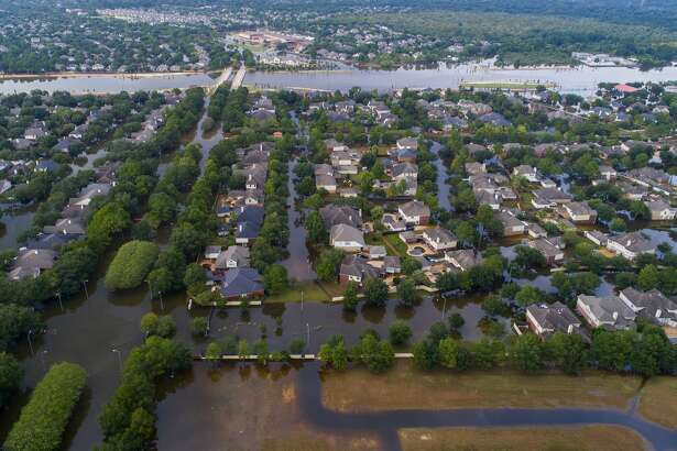 Barker Reservoir engulfed parts of Cinco Ranch after Hurricane Harvey, a scenario that had long worried engineers, planners and the U.S. Army Corps of Engineers.