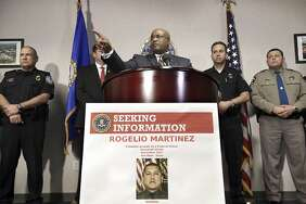 "FBI Special Agent in Charge of the El Paso field office Emmerson Buie Jr. speaks during a press conference at the FBI field office, Tuesday, Nov. 21, 2017, in El Paso, Texas, about the death of a border patrol agent and the severe injuries of a second agent. FBI officials said Tuesday that officers are investigating the incident as a ""potential physical assault"" on federal officers, but said there are several scenarios that might have led to the agents' injuries. (Mark Lambie/The El Paso Times via AP)"