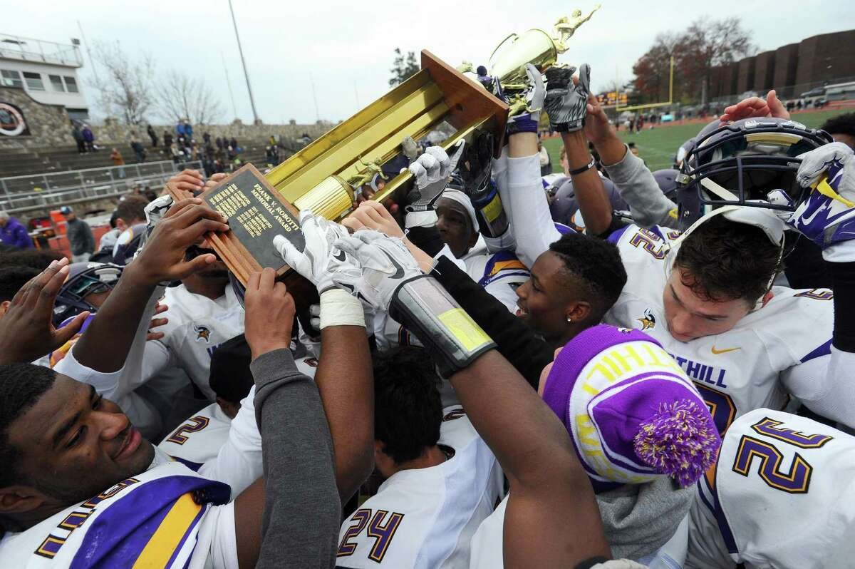 Photos from the annual Thanksgiving football game between Stamford High School and Westhill High School at Stamford High's Boyle Stadium in Stamford, Conn. on Thursday, Nov. 24, 2016. Westhill defeated Stamford 29-6 to win the Robotti trophy for the fourth time in five years.