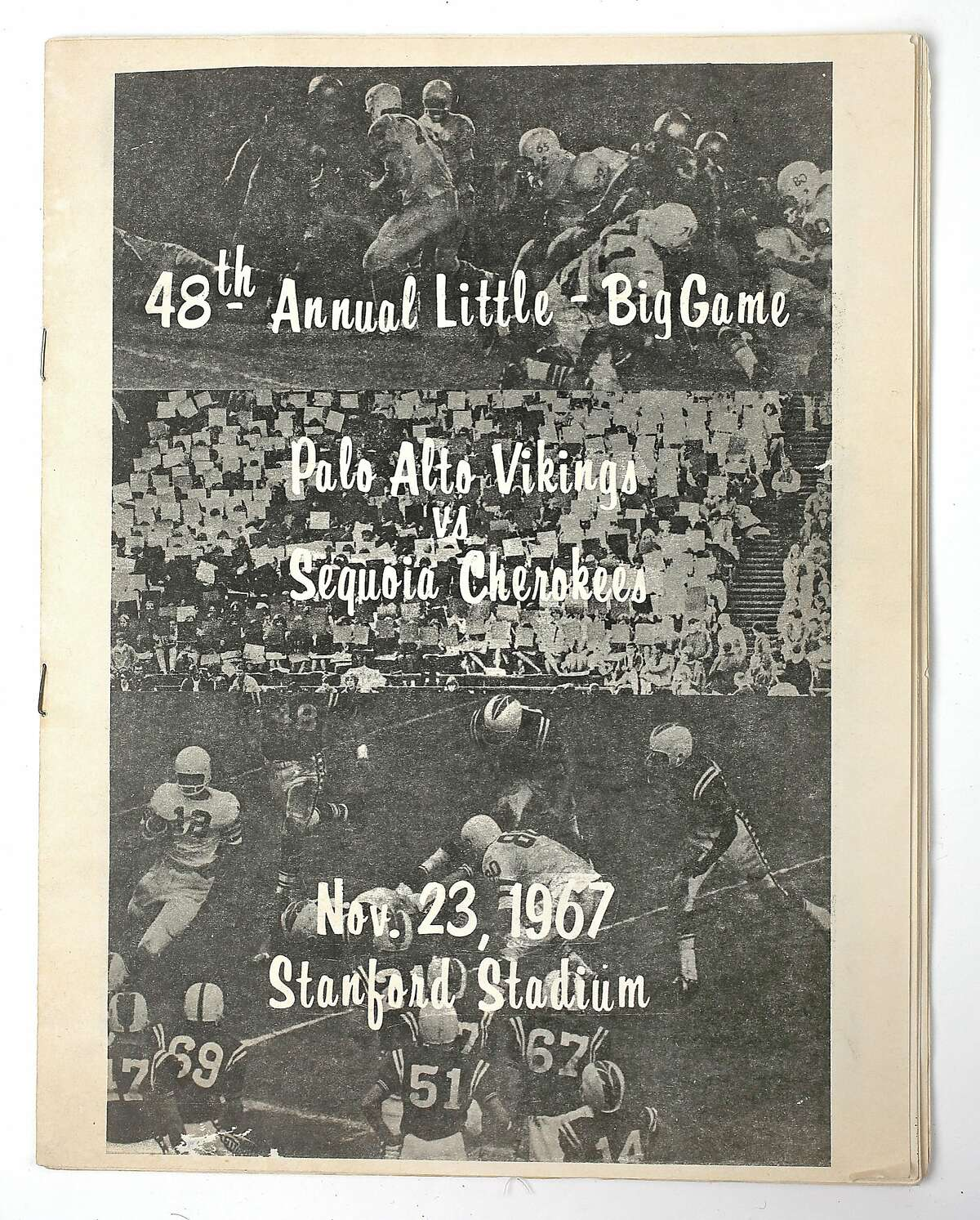 This program was designed and printed by the graphic arts department at Palo Alto High School for the 1967 Little Big Game between Sequoia and Palo Alto.