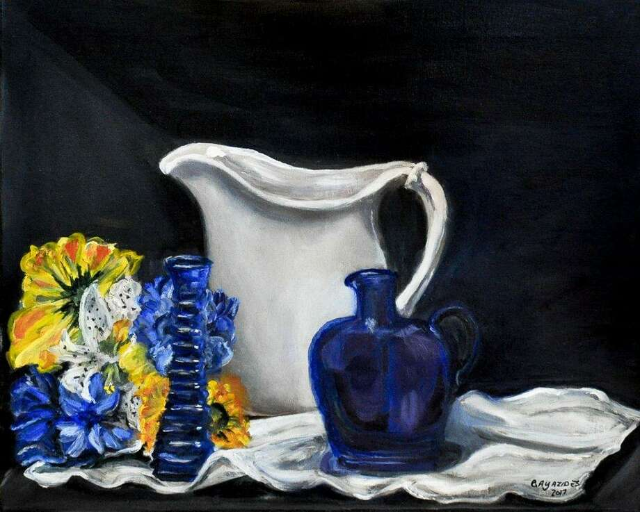 "Fine Arts Connection in Thomaston will present a show featuring works by the Ten-2-One artists, opening Nov 26. In the photo, ""Babcia's Wedding Pitcher,"" oil, by Carmina Ayazides. Photo: Contributed Photo /Not For Resale"