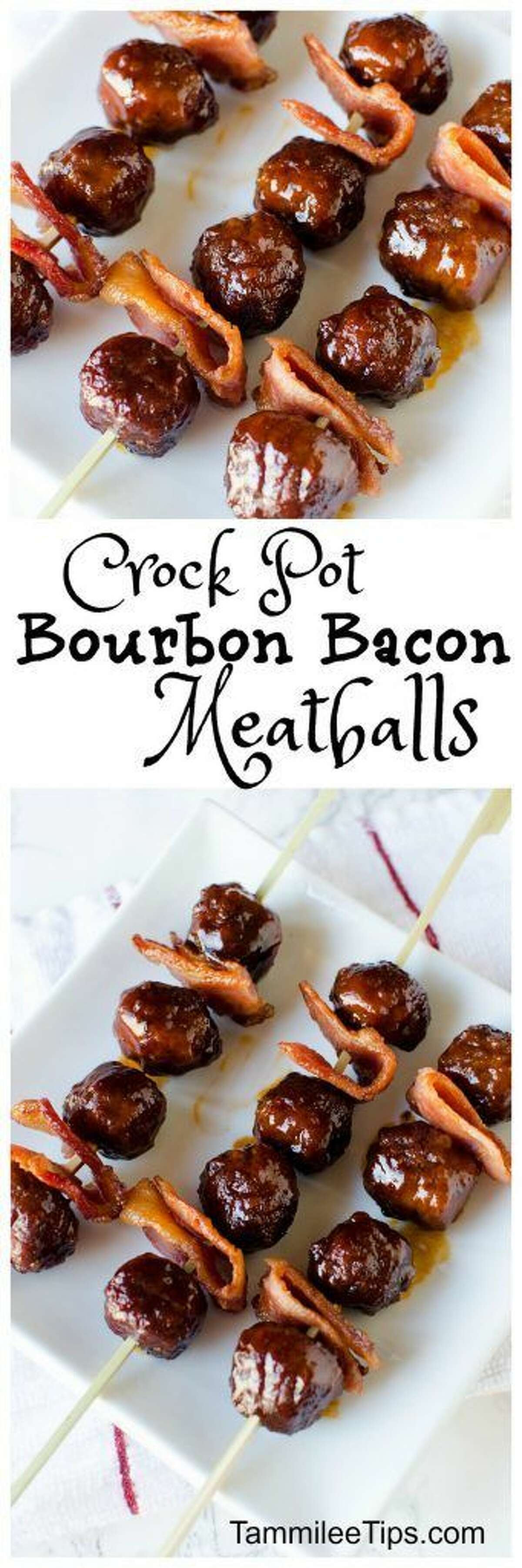 Bourbon bacon meatballs: Who doesn't love bacon and a little booze? Photo/recipe: Pinterest
