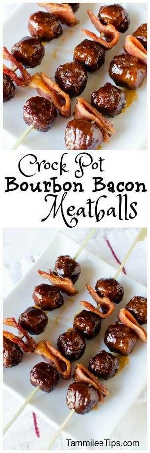 Bourbon bacon meatballs:  Who doesn't love bacon and a little booze?Photo/recipe: Pinterest Photo: Pinterest