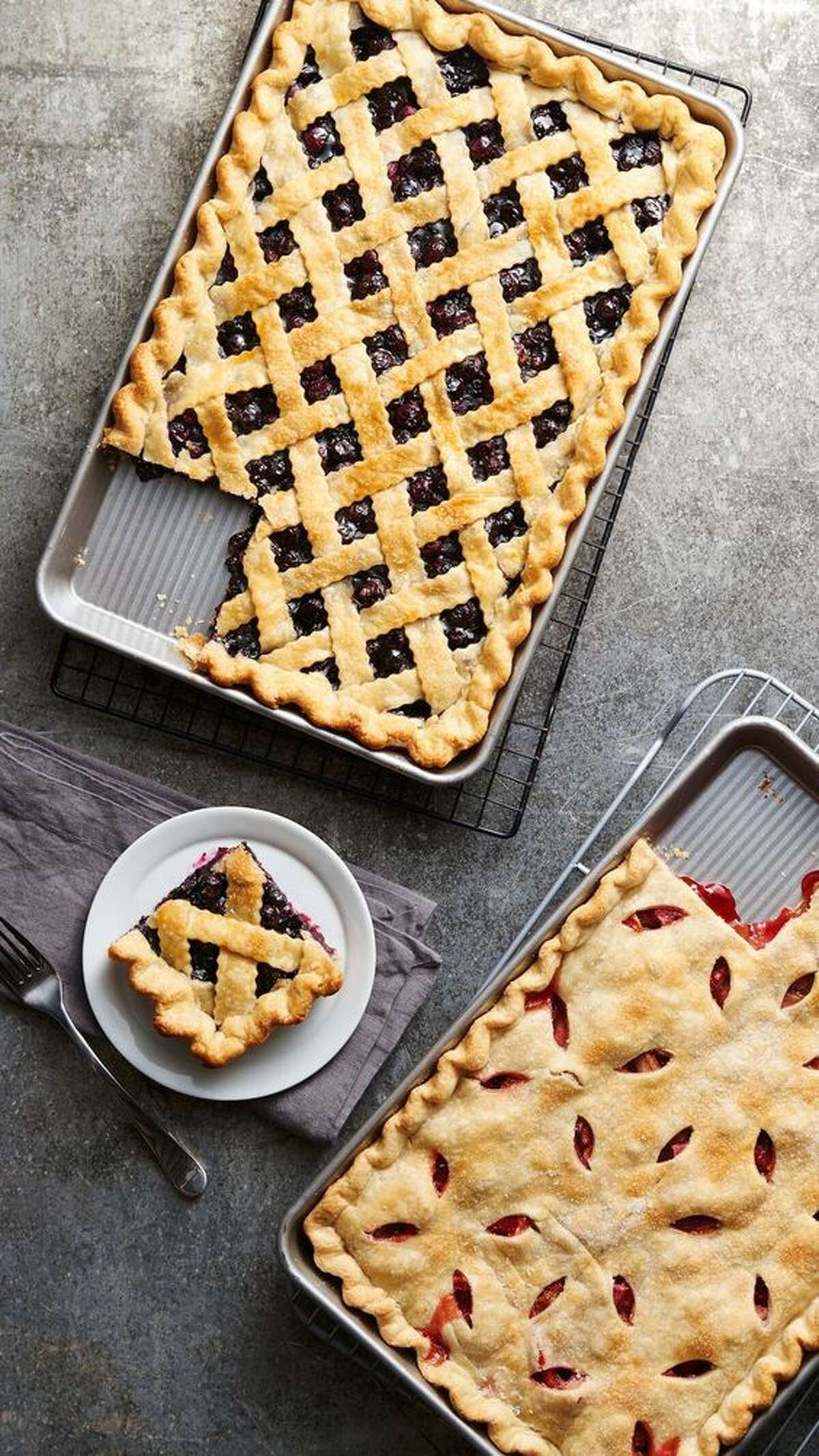Slab pies:Your favorite crowd-pleasing pie in crowd-sized from. Photo: Pinterest
