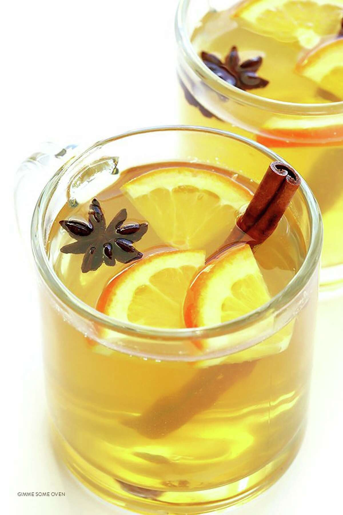 Mulled white wine:This citrus-y, sweet drink is perfect for a cold day spent with friends and family. Photo/recipe: Pinterest