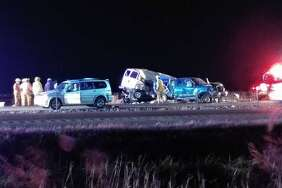 Interstate 55 was closed southbound after a multiple-vehicle accident Tuesday.