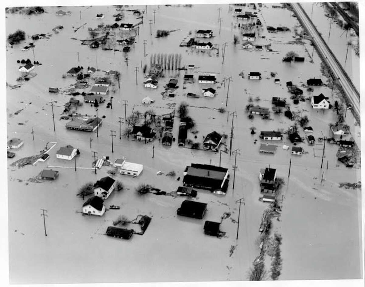 Flooding in the Green River valley at Renton, as seen Dec. 14, 1946.