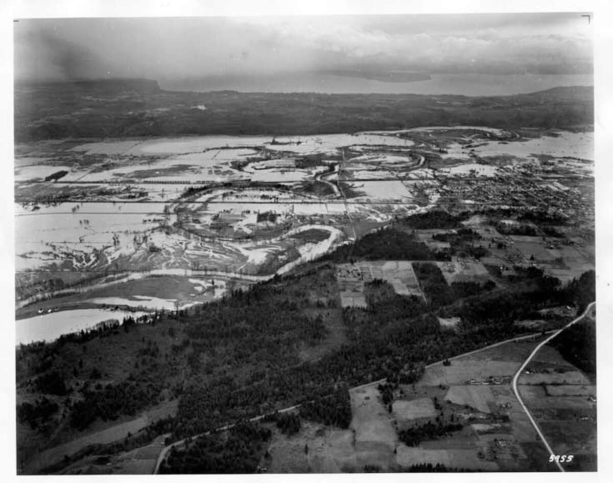 Flooding in the Green River valley near Kent as seen Dec. 14, 1946.