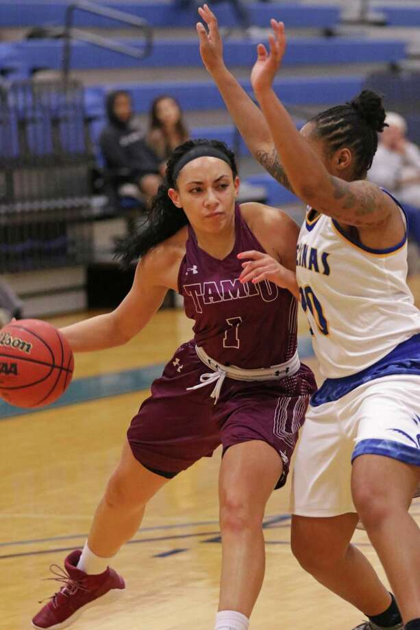 Tantashea Giger had 21 of the Dustdevils' 43 points on Tuesday evening in a 46-43 loss at Texas A&M-Kingsville Photo: Clara Sandoval / Laredo Morning Times