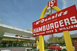 A replica of Ray Kroc's first McDonald's location stands in Des Plaines, Ill., with the original sign out front.  The Des Plaines McDonald's was the ninth McDonald's restaurant in the country, but the company considers the location to be the birthplace of the modern version of the chain, which has 36,000 locations.