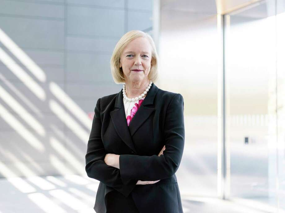 FILE — Meg Whitman, the chief executive of Hewlett Packard Enterprise, in Palo Alto, Calif., Oct. 29, 2015. Six years after joining its corporate predecessor, Hewlett-Packard, and leading a turnaround effort that split the Silicon Valley icon in two, Whitman will retire in February 2018, the company said on Nov. 21, 2017. (Jason Henry/The New York Times) Photo: JASON HENRY, STR / NYTNS