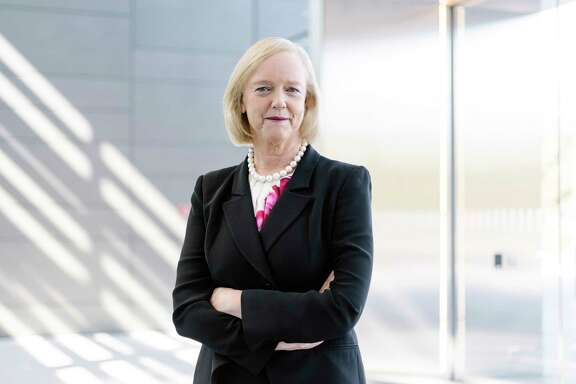FILE — Meg Whitman, the chief executive of Hewlett Packard Enterprise, in Palo Alto, Calif., Oct. 29, 2015. Six years after joining its corporate predecessor, Hewlett-Packard, and leading a turnaround effort that split the Silicon Valley icon in two, Whitman will retire in February 2018, the company said on Nov. 21, 2017. (Jason Henry/The New York Times)