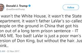 President Donald J. Trump on LaVar Ball.