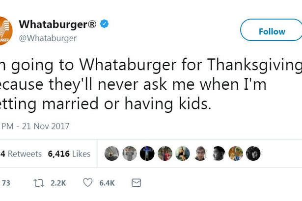 Whataburger wants to provide you a safe space to eat and unwind away from family this holiday season.