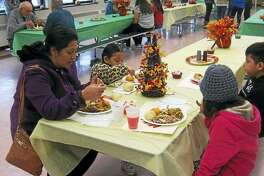 Students, staff and volunteers at Oliver Wolcott Tech in Torrington will welcome guests for the annual community Thanksgiving dinner on Thursday from 11 a.m. to 1 p.m.